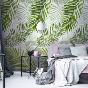 PVC wall panels bedroom interior visualisation